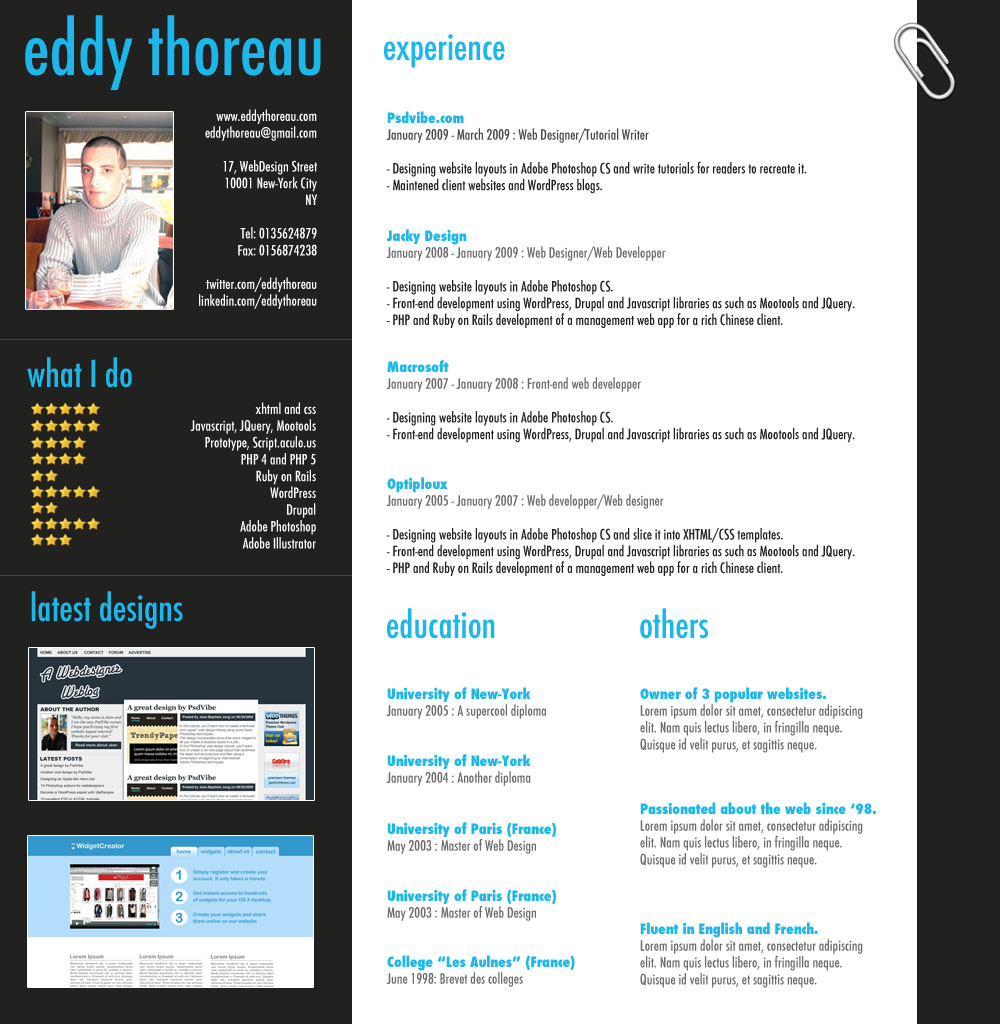 classic professional resume template open resume templates. Black Bedroom Furniture Sets. Home Design Ideas