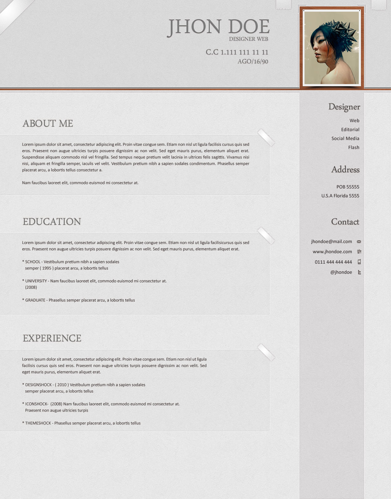 Softwarm Psd Resume Template  Open Resume Templates