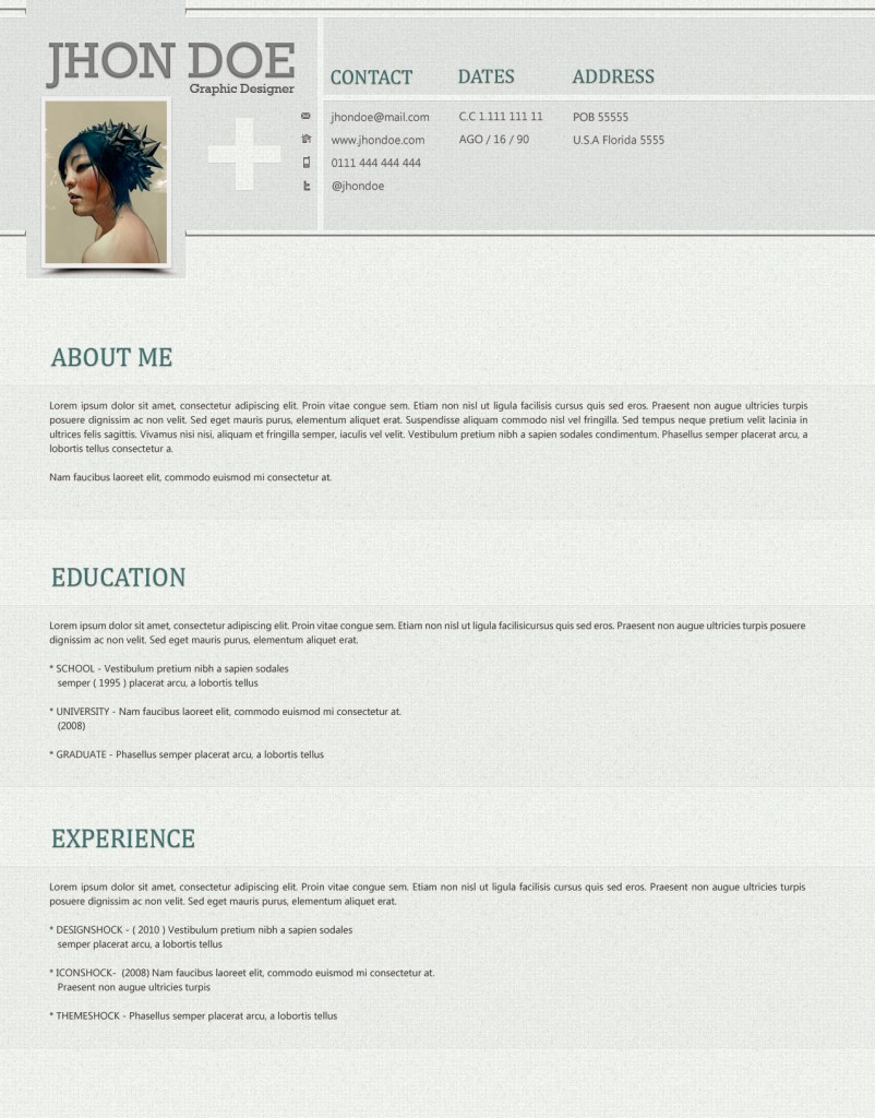 clean and stylish photoshop resume template  u2190 open resume