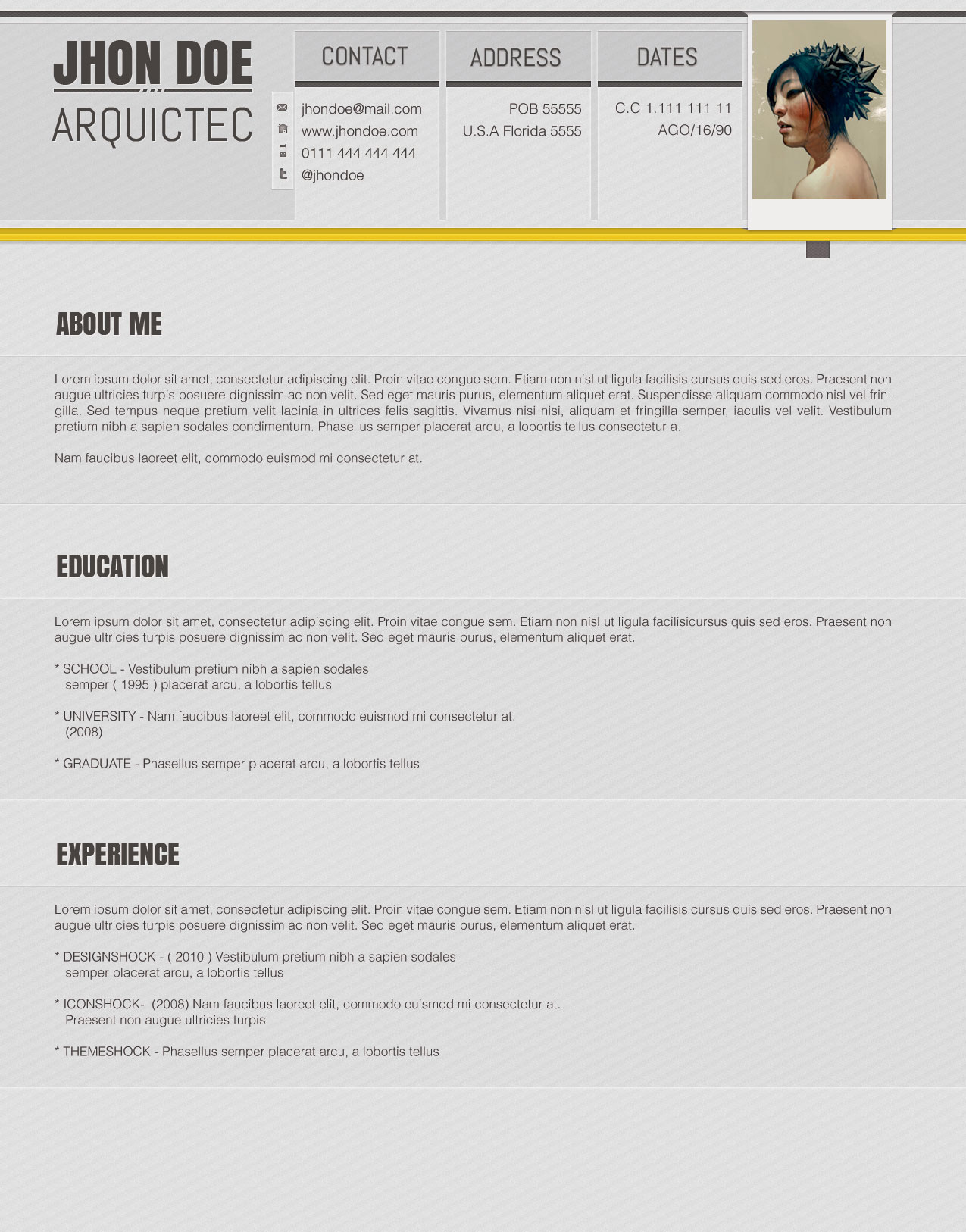 accented psd resume template  u2190 open resume templates