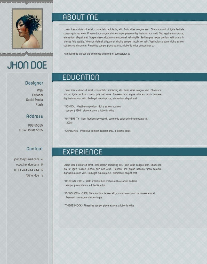 softcold psd resume template  u2190 open resume templates