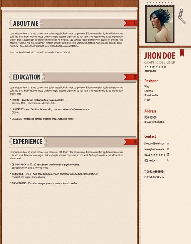 desing psd cv  u2190 open resume templates